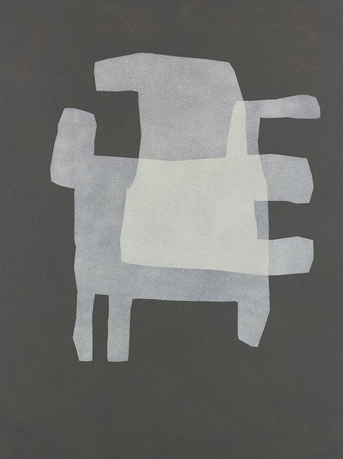 074. Sans titre 72, 2015, acrylique sur toile, 65 x 50 cm