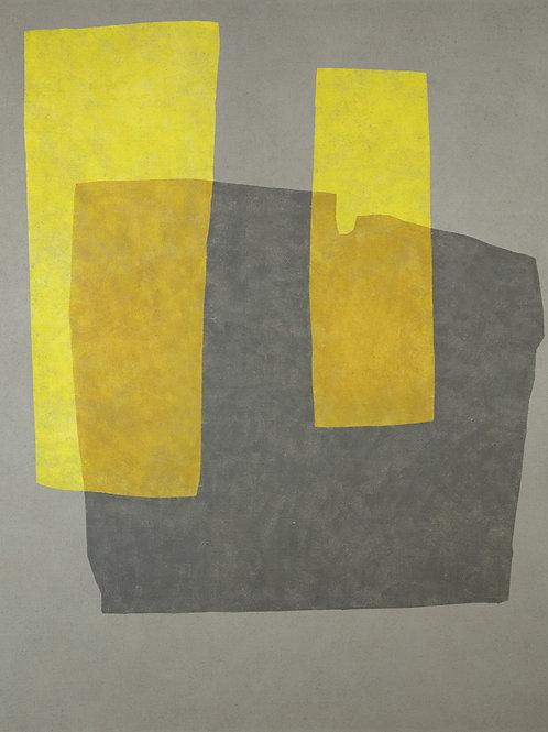 080. Sans titre 56, 2012, acrylique sur toile de jute, 190 x 160 cm