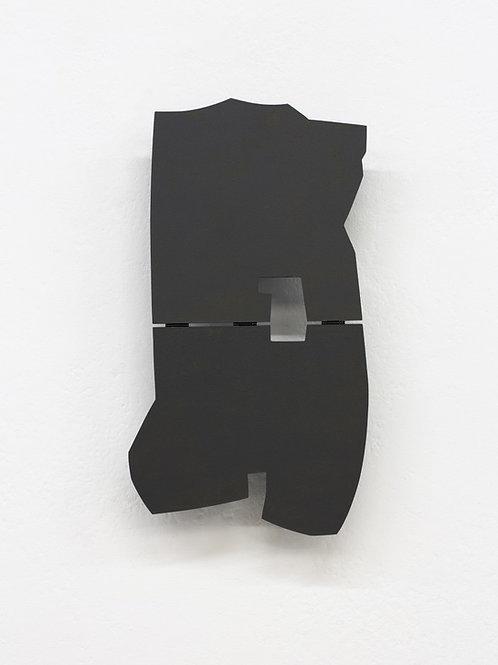 110. Relief 13, 2014, mdf, bois, charnières, peinture acrylique, 47 x 25 x 7 cm