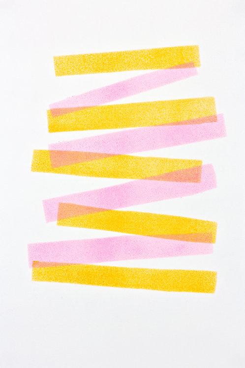 031. Sans titre 36, 2017, acrylique sur papier, 30 x 20 cm