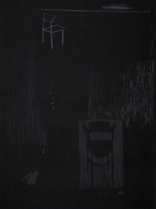 120. Dialogue 01, 2000, linogravure, 42 x 35 cm