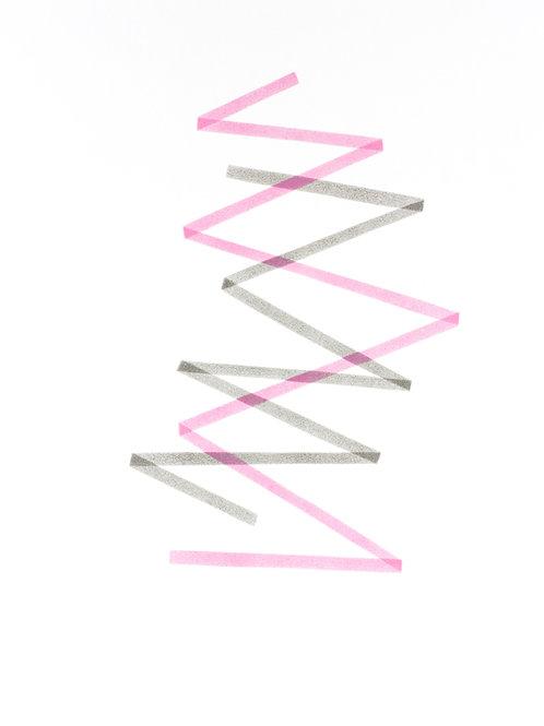 006. Sans titre 61 bis, 2018, acrylique sur papier, 70 x 50 cm