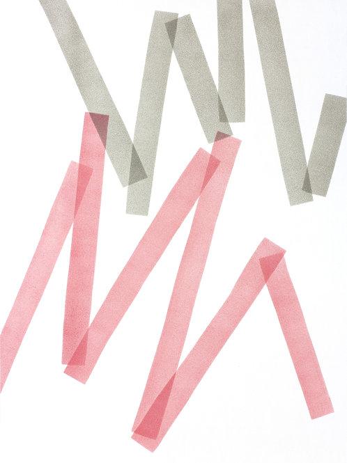 009. Sans titre 58, 2018, acrylique sur papier, 70 x 50 cm