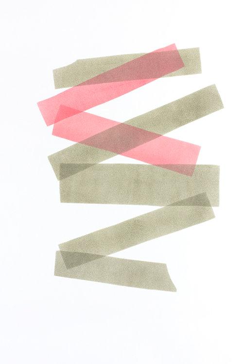 013. Sans titre 51, 2018, acrylique sur papier, 70 x 50 cm