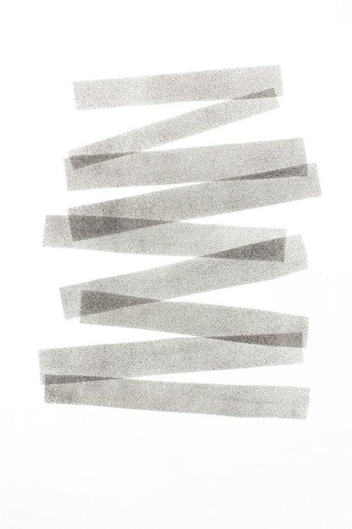 032. Sans titre 36 bis, 2017, acrylique sur papier, 30 x 20 cm