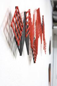 Izabela Kowalczyk, Relief 30, 2020, 46 x 162 x 1,5 cm