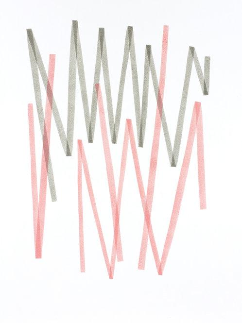004. Sans titre 62, 2018, acrylique sur papier, 70 x 50 cm