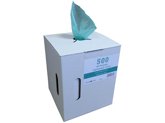 Box 500 Green Semi Disposable Cloths