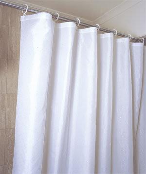 basic PVC shower curtain