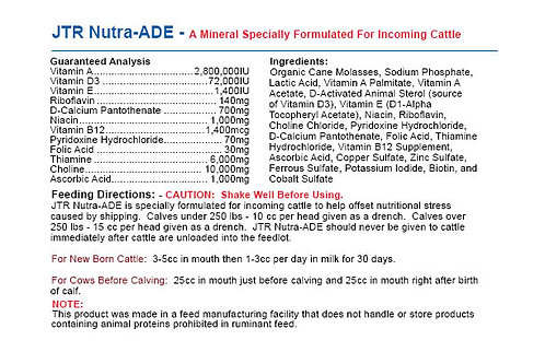JTR Nutra Ade - For Incoming Cattle