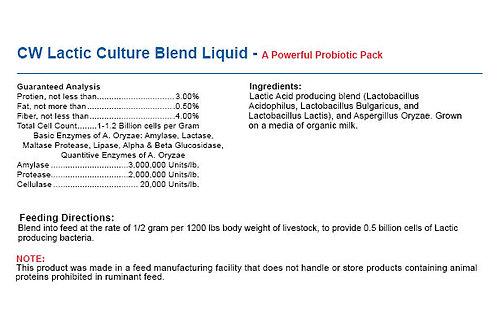 CW Lactic Culture Blend - Powerful Probiotic Pack