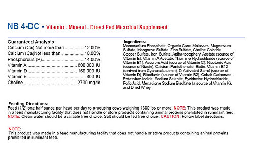 NB 4-DC - Direct Fed Microbial Supplement