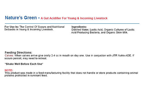 Natures Green - A Gut Acidifier For Young & Incoming Livestock
