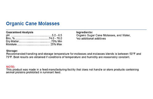 Organic Cane Molasses - Molasses for All Animals