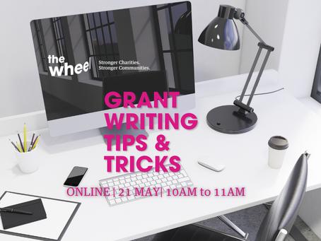 EVENT: Grant Writing Tips & Tricks (Webinar)