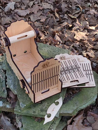 Mini Handywoman Box tape Loom w/ 3 heddles