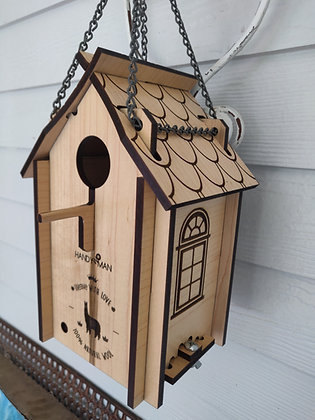 Handywomanshop Bird house /Blue Birds