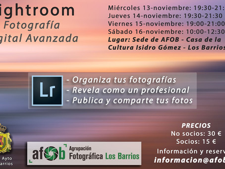 Curso de Fotografía Digital con Lightroom