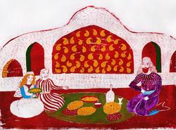 04- Shahnameh- Bahram at Lonbak's Place