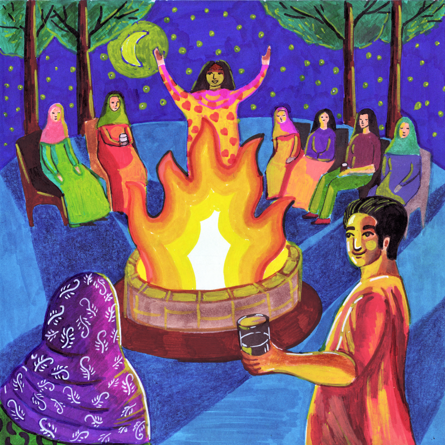8-circling around the fire