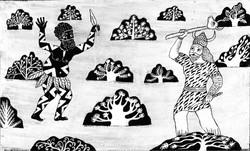 015- Shahnameh, The Battel of Rostam and Kafour