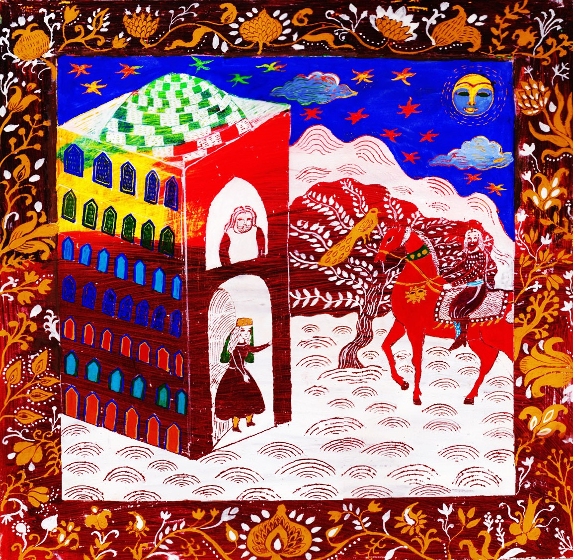 06- Shahnameh, Bahram at the door