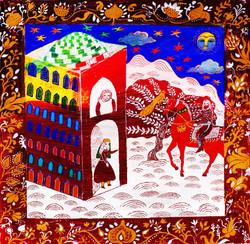 06- Shahnameh, Bahram at the door