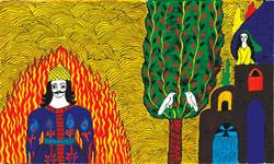 09- Shahnameh, Siavash in Fire