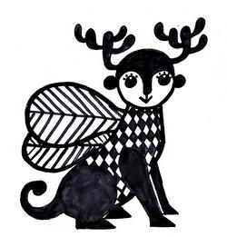 9-Winged deer