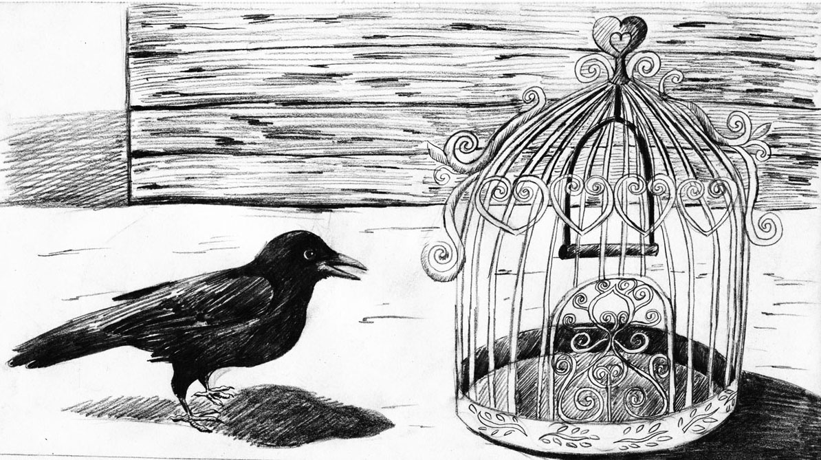 5- A Cage Went in Search of a Bird