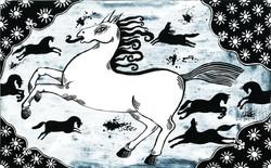 017- Shahnameh, The devil horse attacks the herd