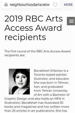 RBC Arts Access Fund Award 2019