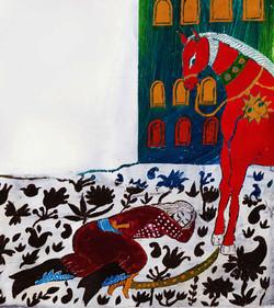 05- Shahnameh, Bahram Sleeping