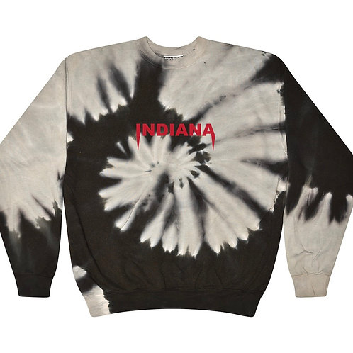 Indiana Tie Dye Embroidered Crew
