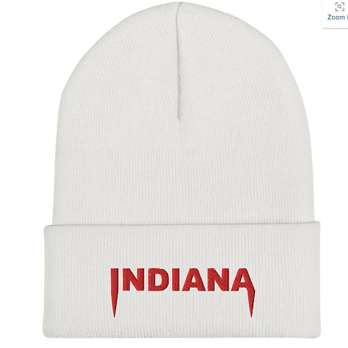 Indiana Embroidered Beanie