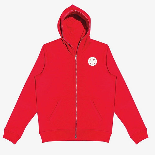 IU Smiley Zip Up Sweatshirt