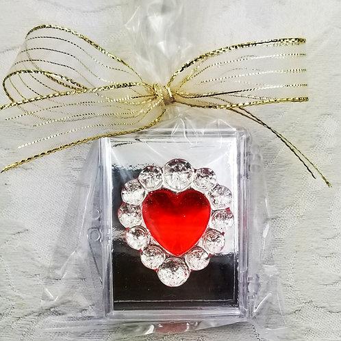Heart Sugar Brooch Favor - Case