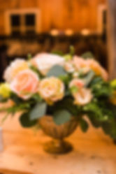 Blush and green floral arrangement