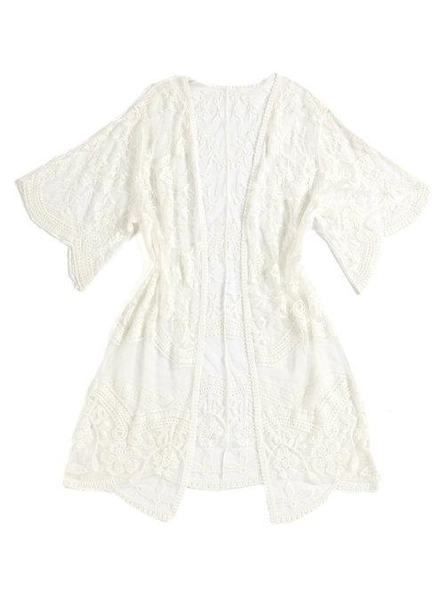 Lacy Kimono - Ivory