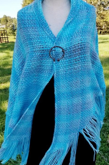 Seabreeze? Large Acryllic Shawl, Light Weight