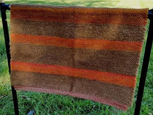 Rust and Brown Alpaca Rug