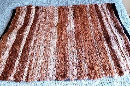 Alpaca Rug, natural brown, fawn, and ivory