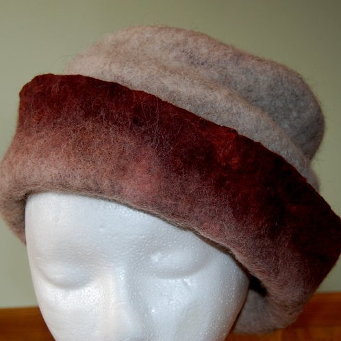 Beautiful Felted Alpaca Cloche!