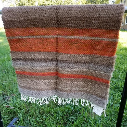 Rust and Light Brown Alpaca Rug