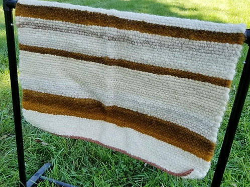 Gold, Brown and Gray/White Rug