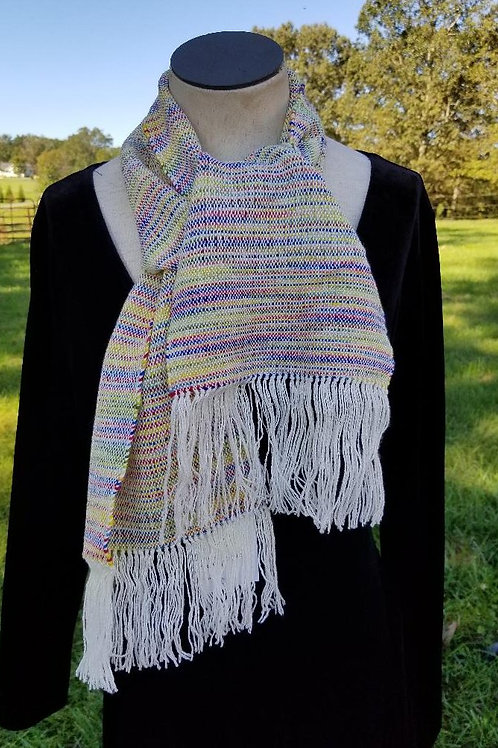 Candy Striped Wool Scarf