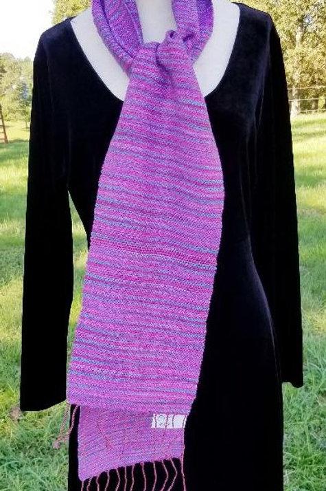 Purple, Pink, Blue Long Scarf