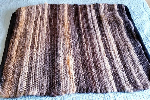 Alpaca Rug, Black, Brown, Fawn and Ivory