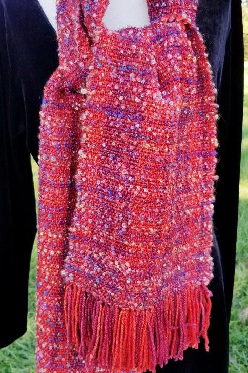 Mohair Scarf, Hand-dyed, Spun and Woven