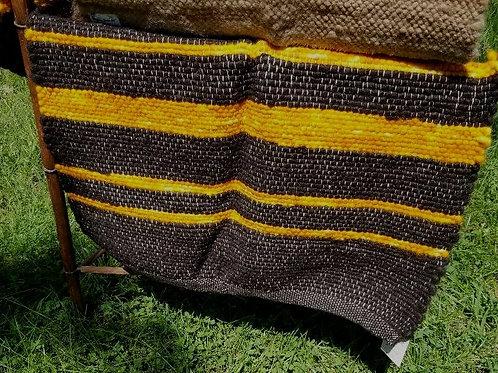 Black/Brown and Gold Alpaca Rug
